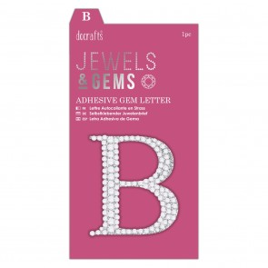 Adhesive Gem Letter - B - Jewels & Gems