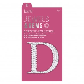 Adhesive Gem Letter - D - Jewels & Gems