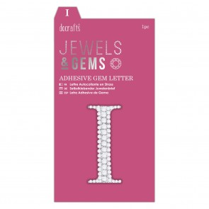 Adhesive Gem Letter - I - Jewels & Gems