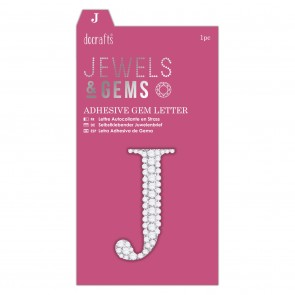 Adhesive Gem Letter - J - Jewels & Gems