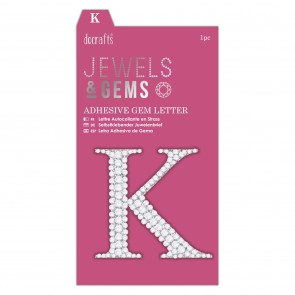Adhesive Gem Letter - K - Jewels & Gems
