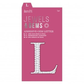 Adhesive Gem Letter - L - Jewels & Gems