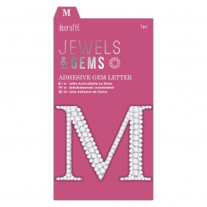 Adhesive Gem Letter - M - Jewels & Gems