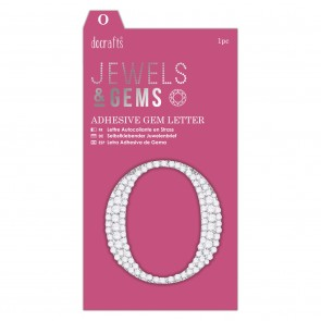 Adhesive Gem Letter - O - Jewels & Gems