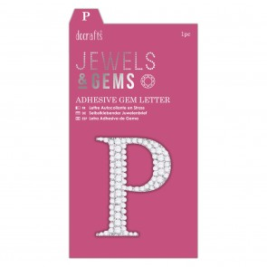 Adhesive Gem Letter - P - Jewels & Gems