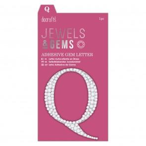 Adhesive Gem Letter - Q - Jewels & Gems