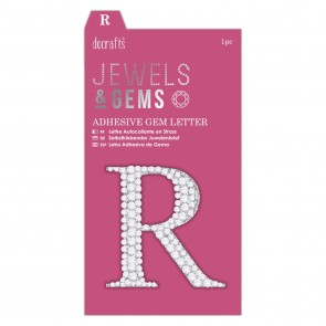 Adhesive Gem Letter - R - Jewels & Gems