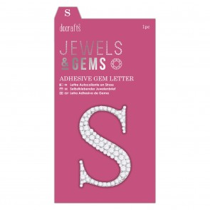 Adhesive Gem Letter - S - Jewels & Gems