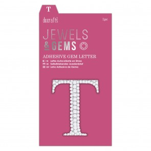Adhesive Gem Letter - T - Jewels & Gems