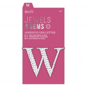 Adhesive Gem Letter - W - Jewels & Gems