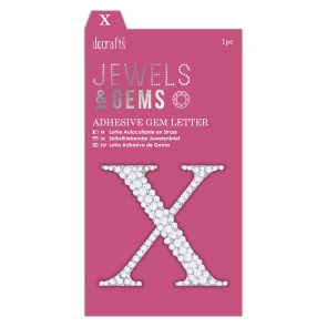 Adhesive Gem Letter - X - Jewels & Gems