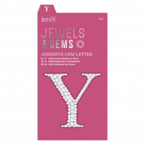 Adhesive Gem Letter - Y - Jewels & Gems
