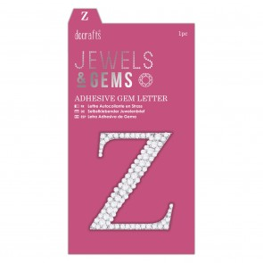 Adhesive Gem Letter - Z - Jewels & Gems
