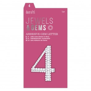 Adhesive Gem Number - 4 - Jewels & Gems