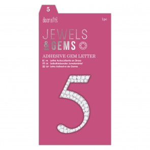 Adhesive Gem Number - 5 - Jewels & Gems