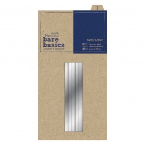 Metal Letters (1pc) - Bare Basics - I - Silver