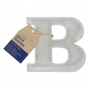 Concrete Letter (1pc) - Bare Basics - B