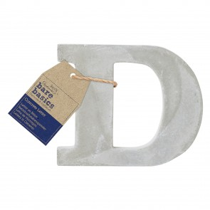 Concrete Letter (1pc) - Bare Basics - D