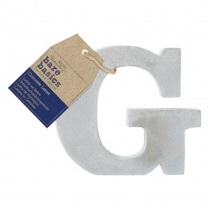 Concrete Letter (1pc) - Bare Basics - G