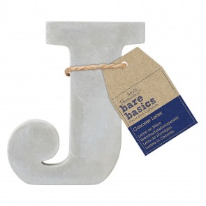 Concrete Letter (1pc) - Bare Basics - J