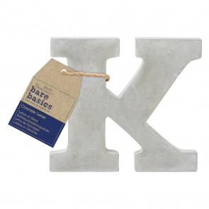 Concrete Letter (1pc) - Bare Basics - K