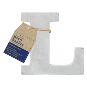 Concrete Letter (1pc) - Bare Basics - L