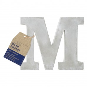 Concrete Letter (1pc) - Bare Basics - M