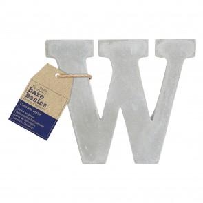 Concrete Letter (1pc) - Bare Basics - W