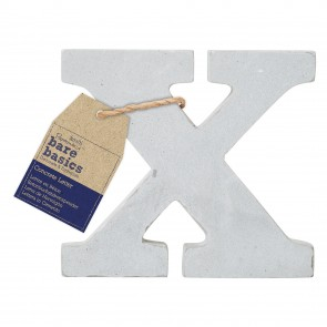 Concrete Letter (1pc) - Bare Basics - X