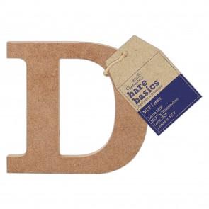 MDF Letter (1pc) - Bare Basics - D