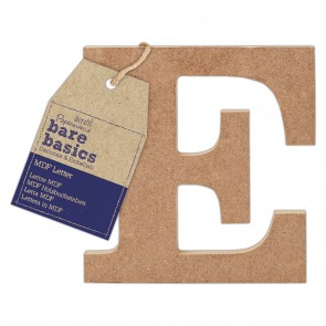 MDF Letter (1pc) - Bare Basics - E