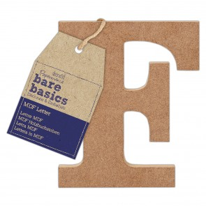 MDF Letter (1pc) - Bare Basics - F