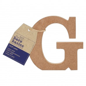 MDF Letter (1pc) - Bare Basics - G