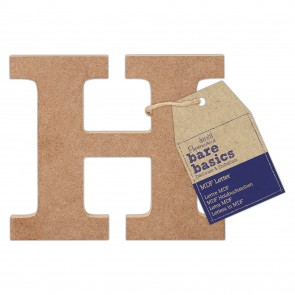 MDF Letter (1pc) - Bare Basics - H