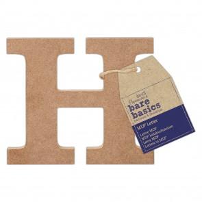 MDF Letter (1pc) - Bare Basics - H