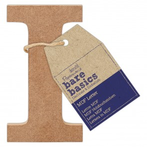 MDF Letter (1pc) - Bare Basics - I