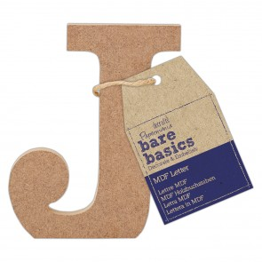 MDF Letter (1pc) - Bare Basics - J
