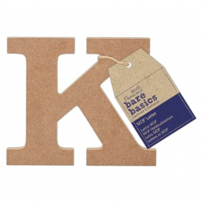 MDF Letter (1pc) - Bare Basics - K