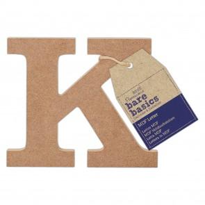 MDF Letter (1pc) - Bare Basics - K