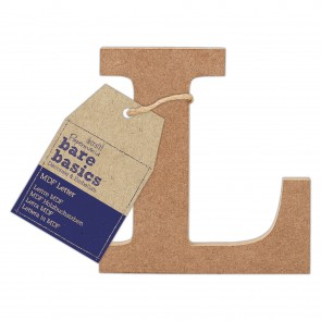 MDF Letter (1pc) - Bare Basics - L