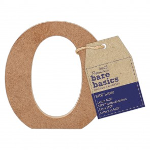 MDF Letter (1pc) - Bare Basics - O