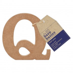 MDF Letter (1pc) - Bare Basics - Q