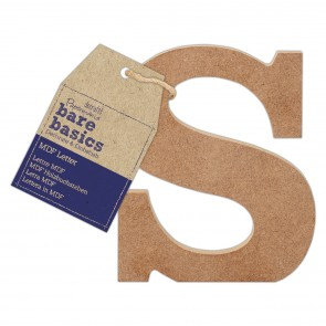 MDF Letter (1pc) - Bare Basics - S