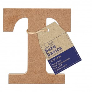 MDF Letter (1pc) - Bare Basics - T