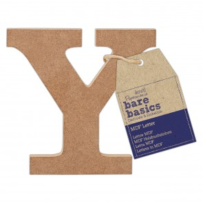 MDF Letter (1pc) - Bare Basics - Y