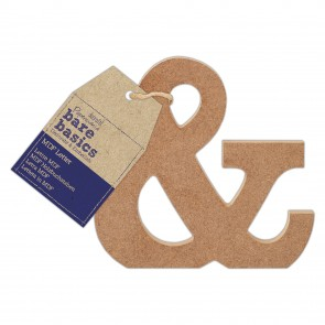 MDF Letter (1pc) - Bare Basics - &