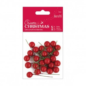 Decorative Berries (24pk) - Red