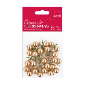 Decorative Berries (24pk) - Gold