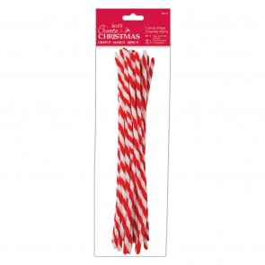 Candy Stripe Chenille Stems (20pcs)