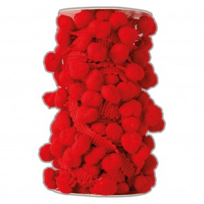 Pom Pom Trim (3m) - Red